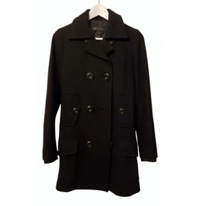 Mango black wool coat